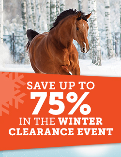 Save up to 75% in the winter clearance event!