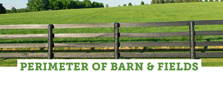 Zone: Perimeter of Barn & Fields