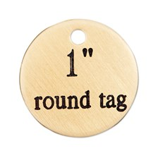 Round Brass Nameplate - 1in