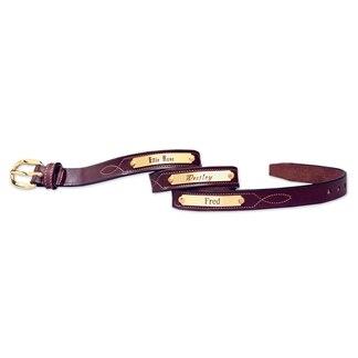 Tory Leather Stitched Pattern Belt