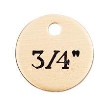 Round Brass Nameplate - 3/4in