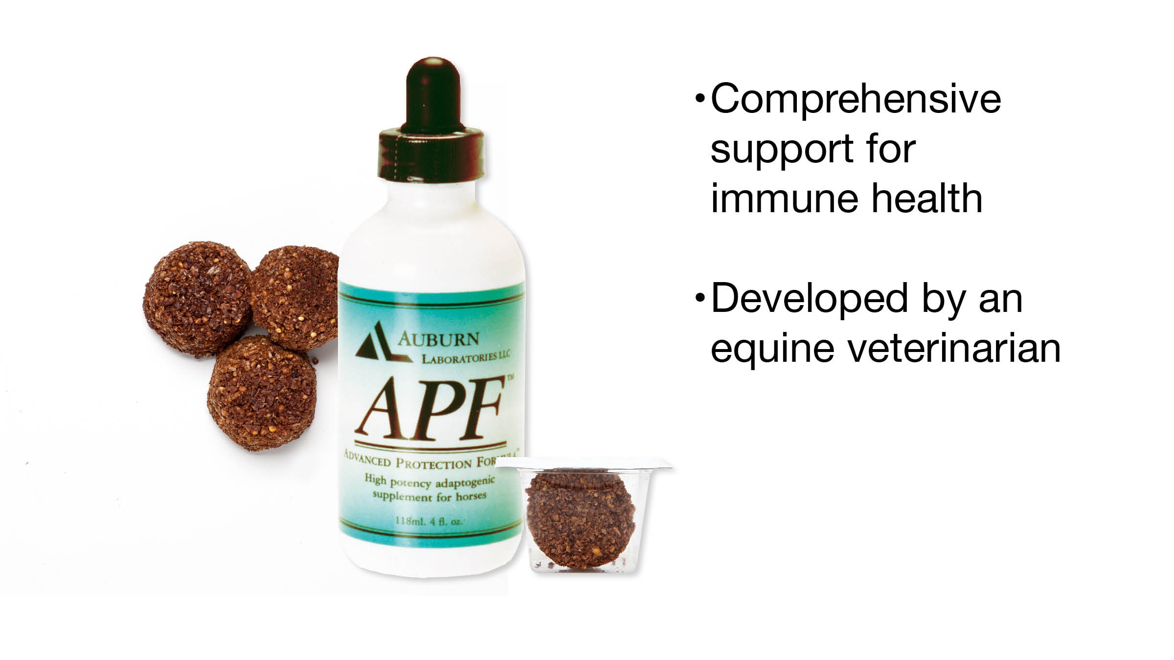 120 Ml Bottle Auburn Laboratories Apf Pro Equine Business & Industrial