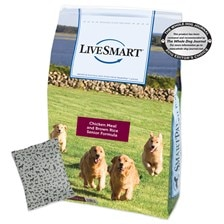 LiveSmart™ Chicken Meal and Brown Rice Senior Dog Formula