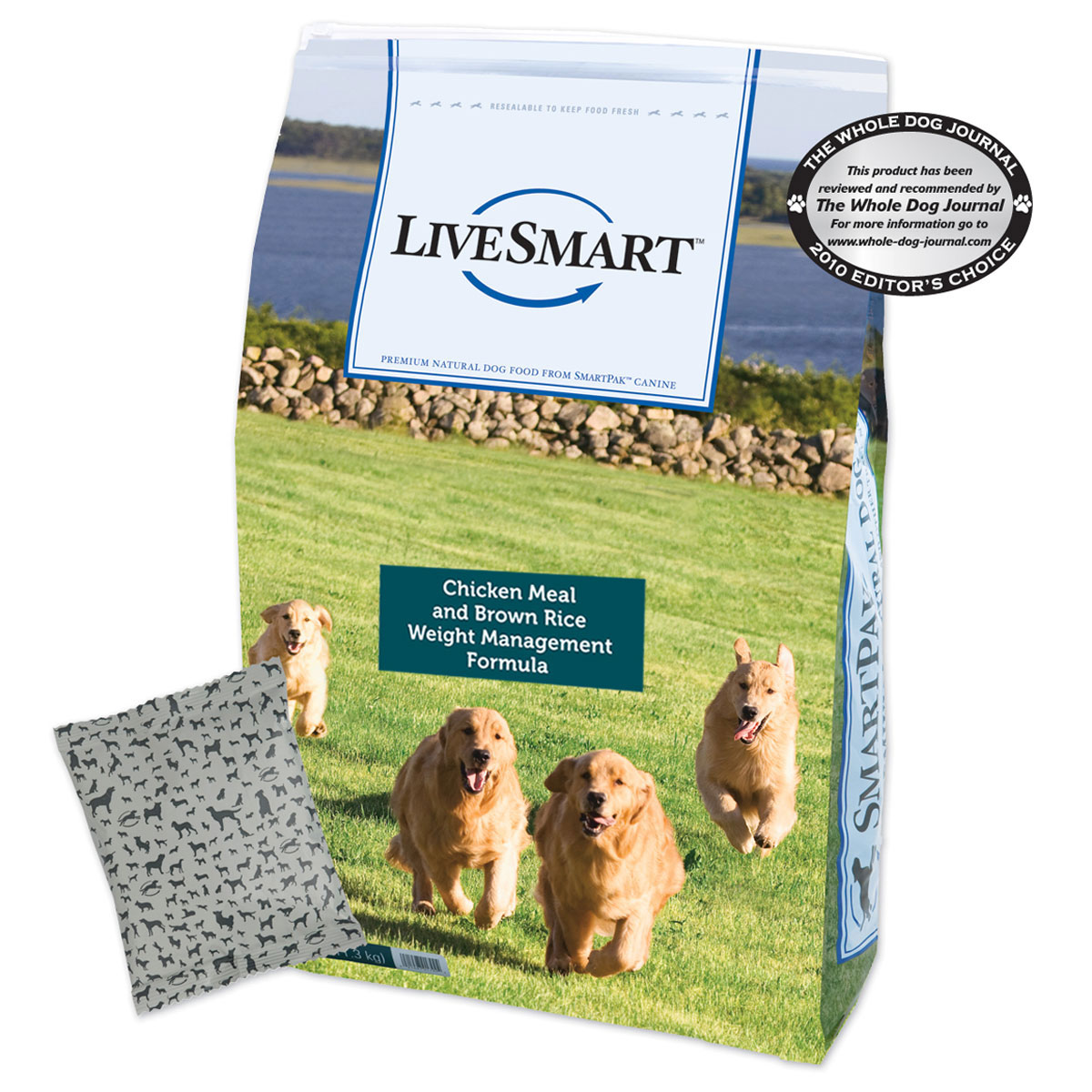 LiveSmart™ Chicken Meal and Brown Rice Weight Management Dog Formula