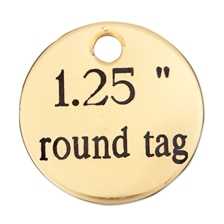 Round Brass Nameplate - 1.25in