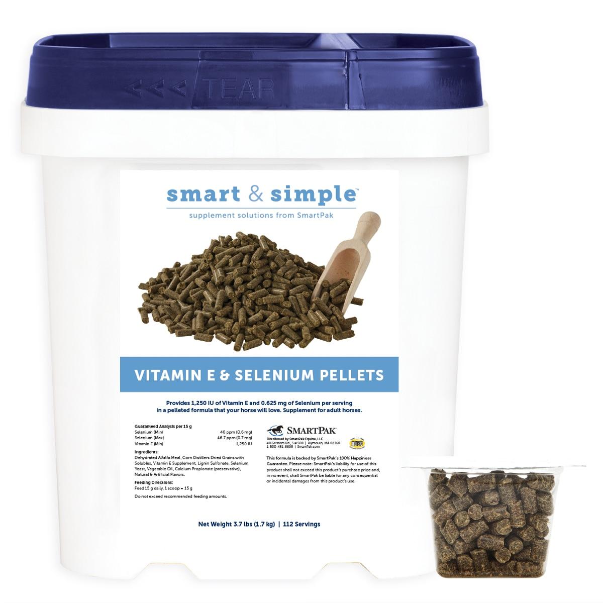 Smart & Simple™ Vitamin E & Selenium Pellets (formerly Vitamin E & Selenium Pellets by SmartPak)