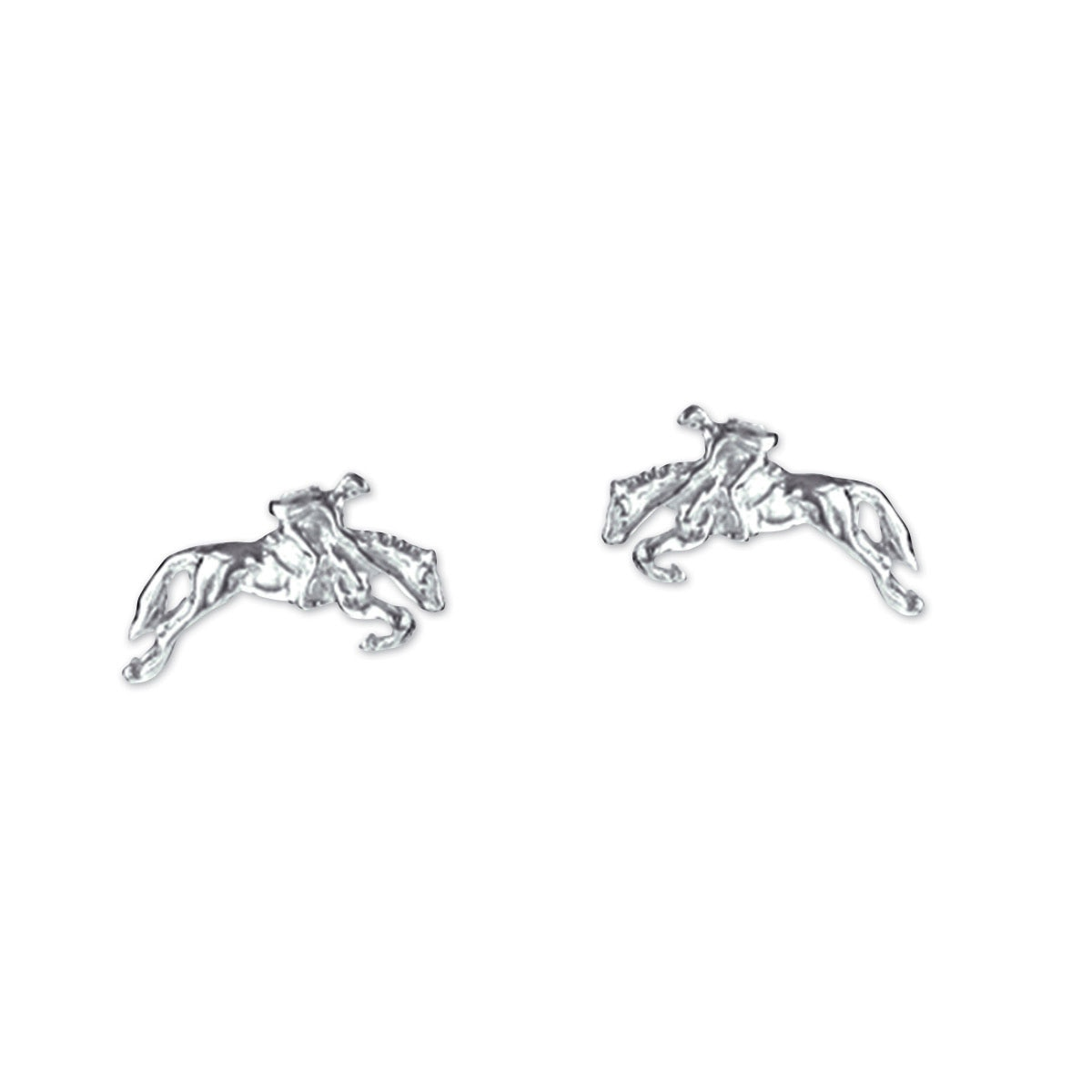 Tiny Jumper Horse & Rider Earrings