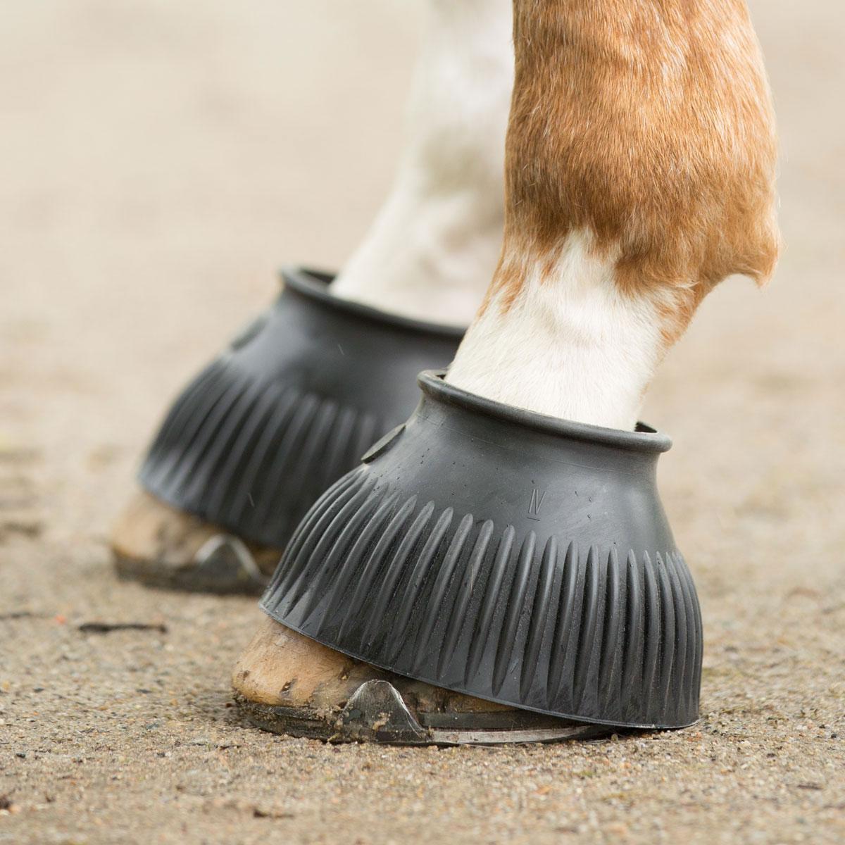 Fantastic Value /& Quality Horse Overreach Boots Black Medium Size!!