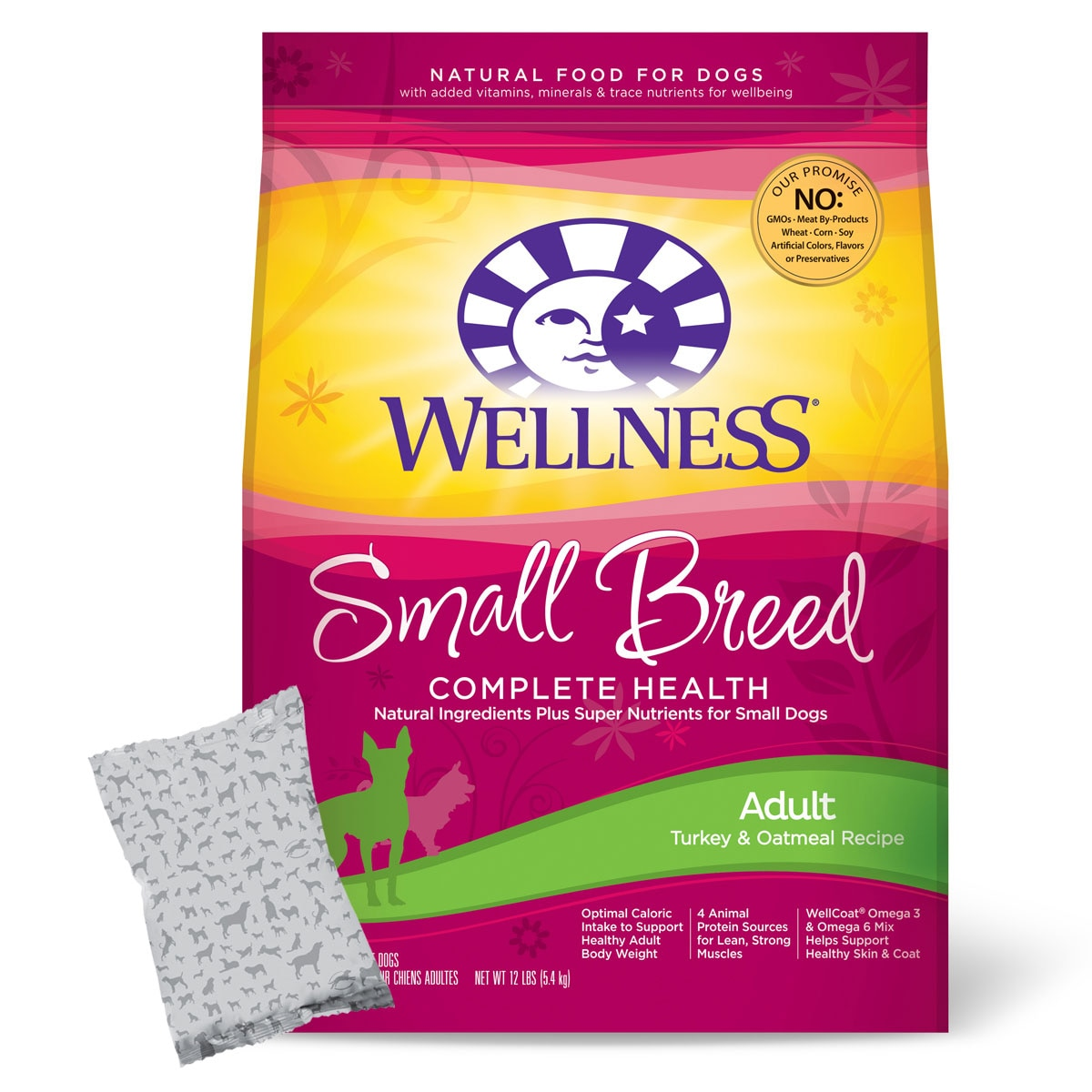Wellness Small Breed Complete Health® Adult Turkey & Oatmeal (formerly Wellness Small Breed Super5Mix® Adult Health)
