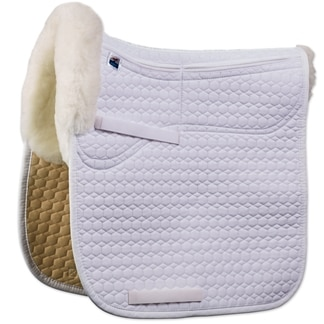 Mattes Correction Square Sheepskin Pad with Pockets for Shims- Dressage