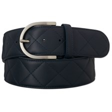 "The Tailored Sportsman Quilted ""C"" Leather Belt"