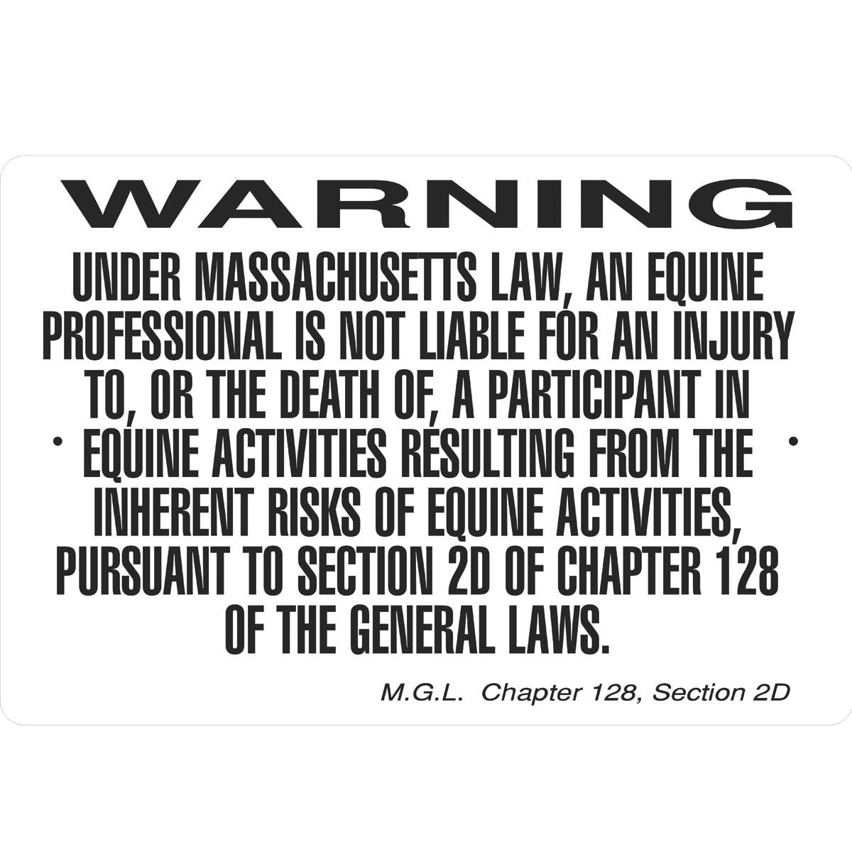 MISSOURI Equine Sign activity liability warning statute horse farm barn stable