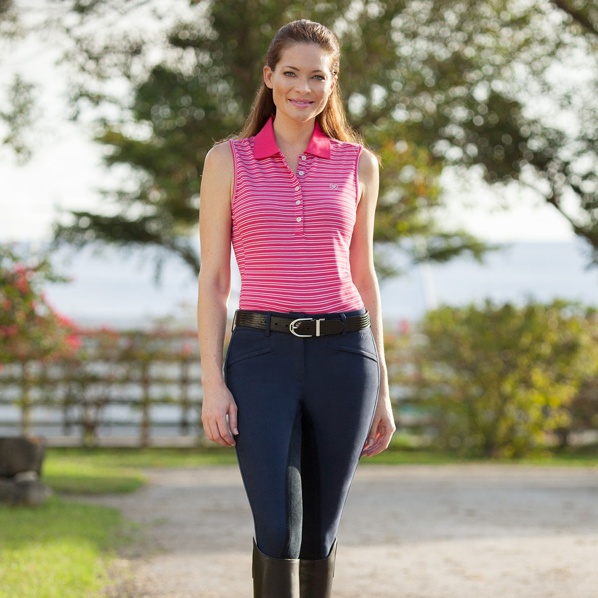 Ariat® Performer Full Seat Breeches - Front Zip