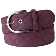 """The Tailored Sportsman Clarino Quilted """"C"""" Belt"""