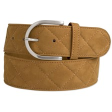 """The Tailored Sportsman Clarino Quilted """"C"""" Belt - Clearance!"""