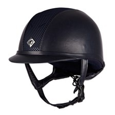 Charles Owen AYR8 Leather Look Helmet - Clearance!