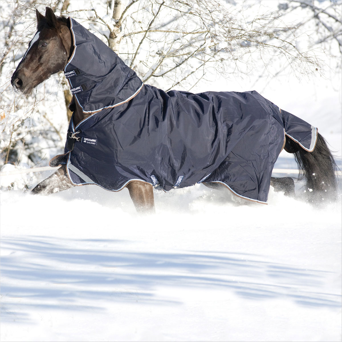 Winter Horse Blankets >> Rambo Duo Turnout Blanket