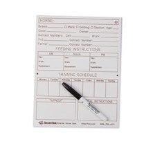 SmartPak Dry Erase Stall Card