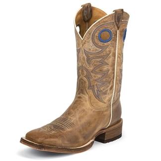 Justin Men's Bent Rail Caddo Beige Boots