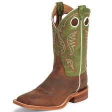 Justin Men's Bent Rail Boots - Leather Outsole