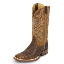 Justin Men's AQHA Ostrich Remuda Boots- Clearance!