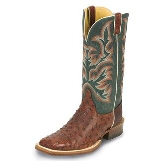 Justin Men's AQHA Ostrich Remuda Boots