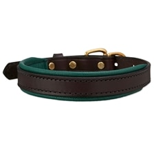 SmartPak Soft Padded Leather Dog Collar