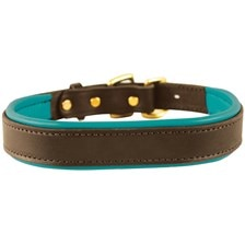 SmartPak Soft Padded Leather Dog Collar - Clearance!