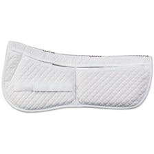 Equine Comfort Cotton Correction 4 Pocket Half Pad with Memory Foam Inserts