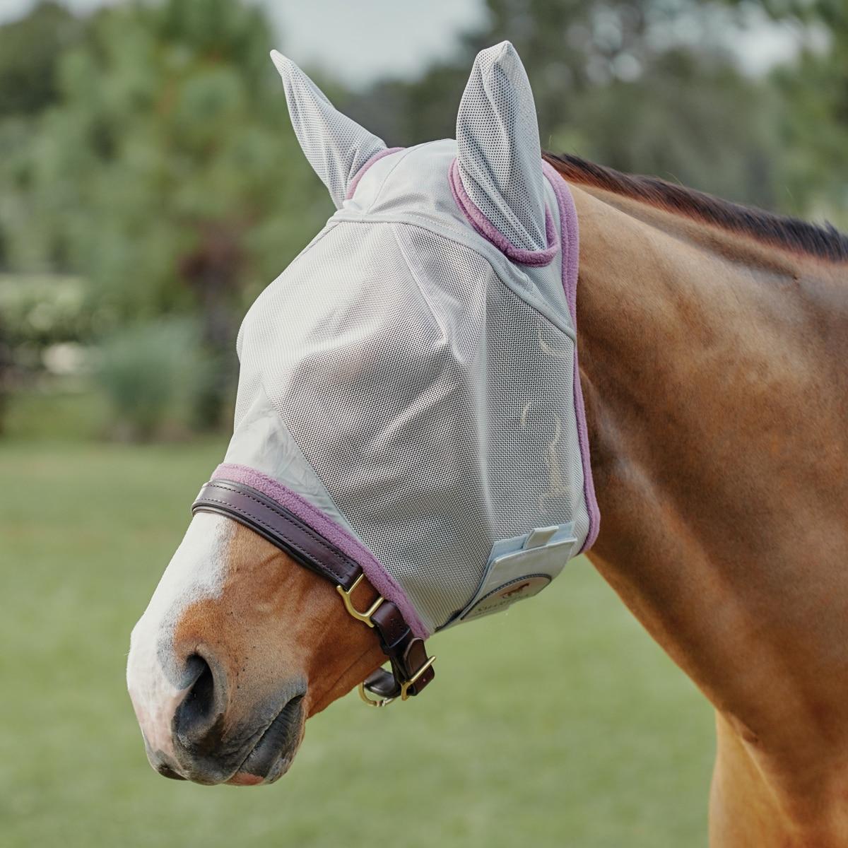 Amigo Fly Mask Durable Comfort Fleece UV Protect Breathable Horse Pony Equine