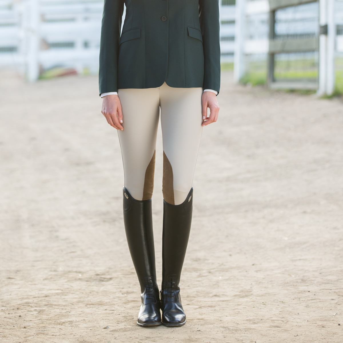 All Sizes RJ Classics Gulf Low Rise Front Zip Breeches Black/Brown Ladies