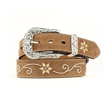 Nocona Women's Brown Flower Belt