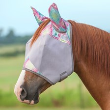 Patterned Crusader Fly Mask- Standard with Ears - Clearance!