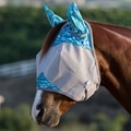 Patterned Crusader Fly Mask- Standard with Ears