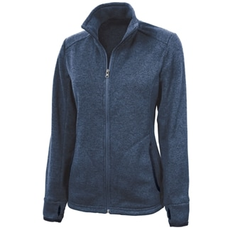 Women's Heathered Fleece Full Zip