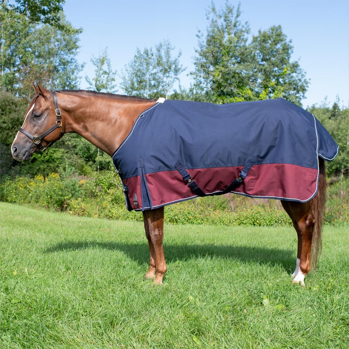 "1200D Turnout Waterproof Horse WINTER BLANKET HEAVY WEIGHT-HUNTER GREEN 70/"" 82/"""