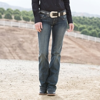 Cowgirl Tuff Women's Don't Fence Me In Jeans- Dark Wash