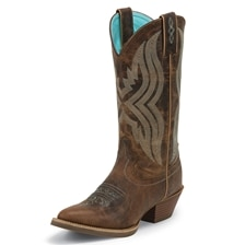 Justin Women's Silver Quinlan Boots - Waxy Coffee