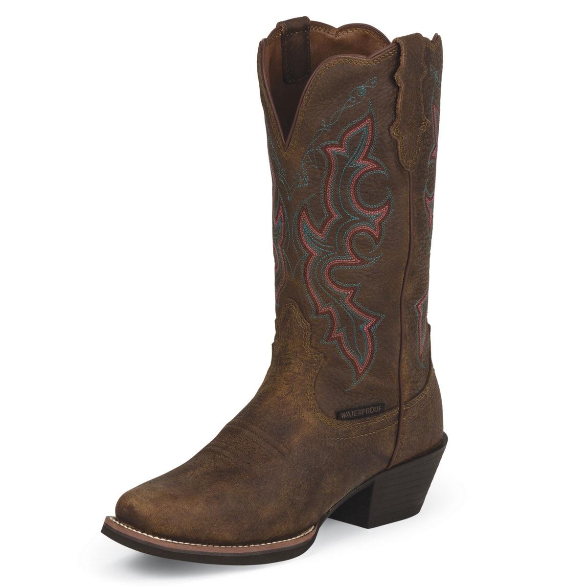 Justin Women's Waterproof Stampede Boots