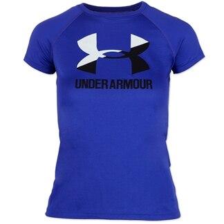 Under Armour Girls Big Logo Tech Tee