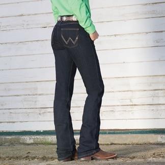 Wrangler® Women's Ultimate Riding Jeans Q-Baby- Dark Dynasty