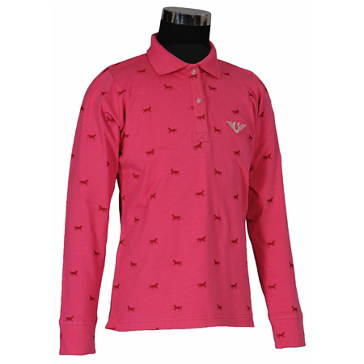 TuffRider Children's Madelyn Long Sleeve Polo Shirt