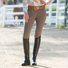 Piper Classic Front Zip Breeches by SmartPak - Knee Patch
