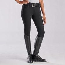 Piper Classic Low-Rise Side Zip Breeches by SmartPak - Knee Patch