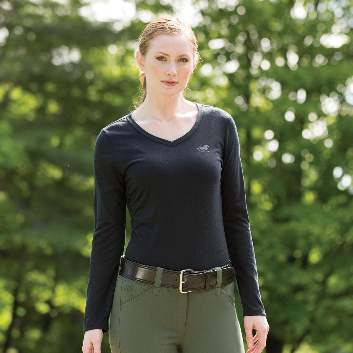 Piper V-Neck Long Sleeve T-Shirt by SmartPak