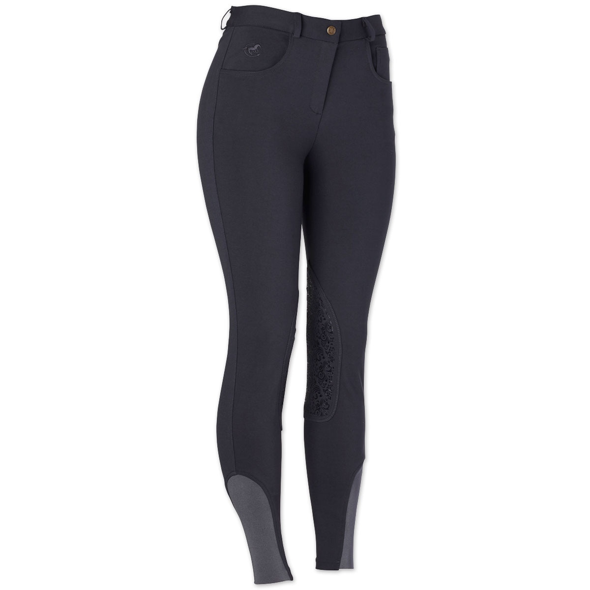 Piper Knit Breeches by SmartPak - Mid Rise Knee Patch