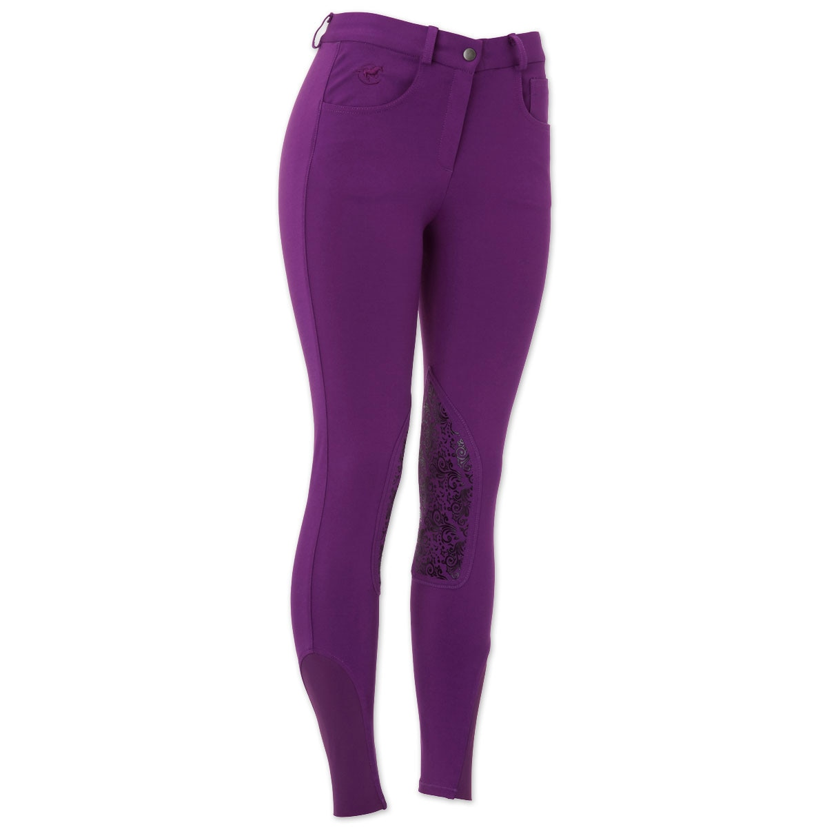 Piper Knit Breeches by SmartPak - Mid Rise Knee Patch - Sale!