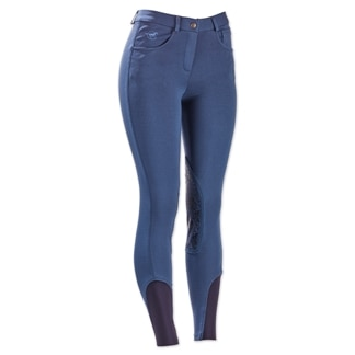 Piper Knit Breeches by SmartPak - Mid Rise Knee Patch - Clearance!
