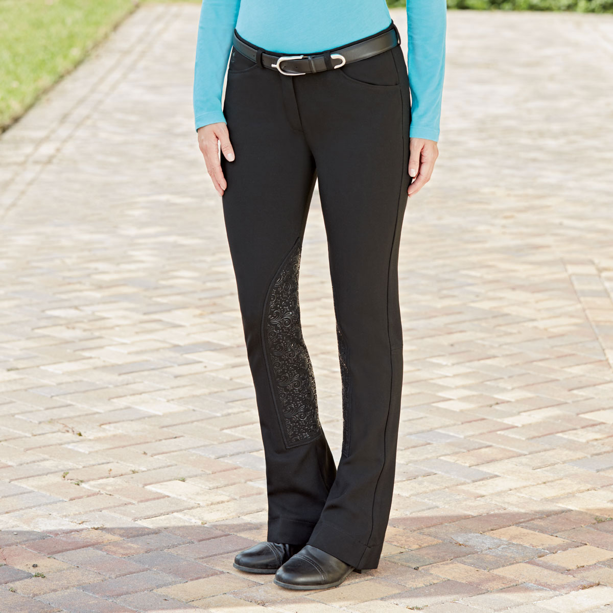 a51f6d80e05 Piper Knit Breeches by SmartPak - Mid Rise Boot Cut Knee Patch