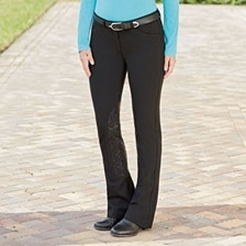 Piper Knit Breeches by SmartPak - Mid Rise Boot Cut Knee Patch